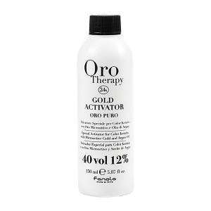 Fanola Oro Therapy Gold Activator Oro Puro 40 Vol 12% Окислитель с микрочастицами золота 12% 150 мл