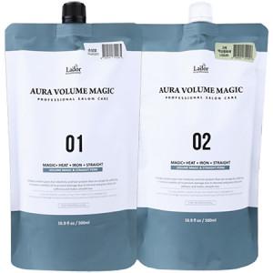 Lador Aura Volume Magic Damaged 01 + 02 Комплекс средств для объема и выпрямления поврежденных волос 500 мл + 500 мл