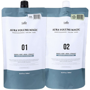 Lador Aura Volume Magic Healthy 01 + 02 Комплекс средств для объема и выпрямления здоровых волос 500 мл + 500 мл
