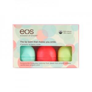 EOS 4 Pack Smooth Набор из 4-x смягчающих и увлажняющих бальзамов для губ