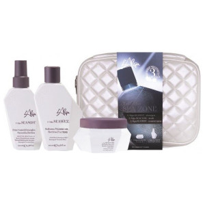 "LAlga Seazone Beauty Bag Дорожный набор ""Термозащита волос со спреем"" 100 мл + 100 мл + 100 мл"