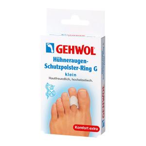 Gehwol Huhneraugen Schutzpolster Ring G Klein Маленькое защитное гель-кольцо с уплотнением для пальцев ног 3 шт