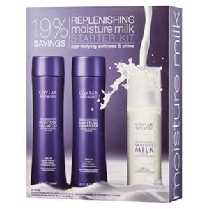 ALTERNA CAVIAR Replenishing Moisture Milk Starter Kit Набор: Увлажняющий Шампунь+Кондиционер+Увлажняющее молочко для волос