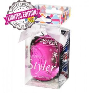 Tangle Teezer COMPACT Pink Baublelicious Компактная расческа Новогодняя лимитированная версия