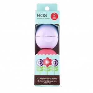 EOS 2 Pack Limited Edition Набор состоит из 2-х смягчающих и увлажняющих бальзама Маракуйя и Клубничный сорбет