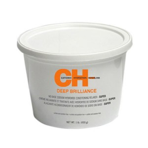 CHI Deep Brilliance No Base Sodium Hydroxide Relaxer Super Система выпрямления структурированных волос - сильная 450 г