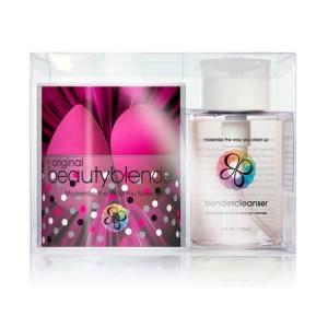 BeautyBlender + Blendercleanser Набор 2 спонжа и гель для очищения спонжа Цвет: Розовый