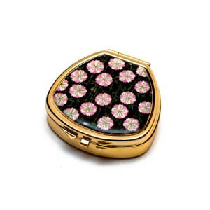 "Andrea Garland Lip Balm Vintage Inspired Pill Box with mirror - Cherry Blossom Бальзам для губ в футляре ""Вишневый цвет"""
