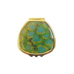 "Andrea Garland Lip Balm Vintage Inspired Pill Box - Art Deco Blue Floral Бальзам для губ в футляре ""Голубой цветок"""